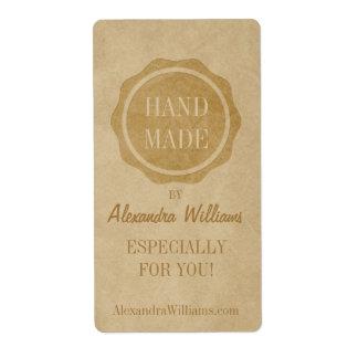 Handmade craft labels Crafty