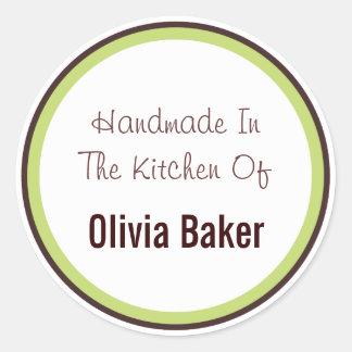 Handmade In The Kitchen Of Round Stickers