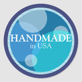 Handmade in USA Sticker Label