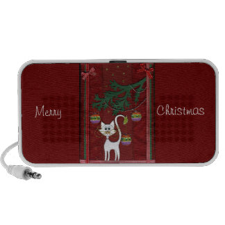 Handmade Kitty Jingle Merry Christmas Portable Speakers