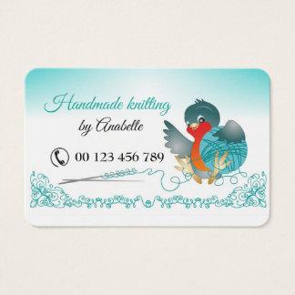 Handmade knitting business card