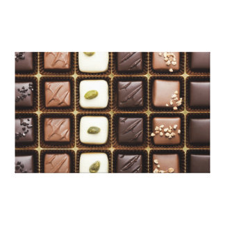 Handmade luxury chocolate in a box gallery wrap canvas