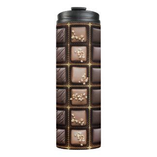 Handmade luxury chocolate in a box thermal tumbler