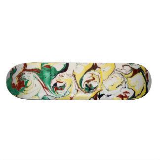 Handmade Marbled Flowers Skateboards