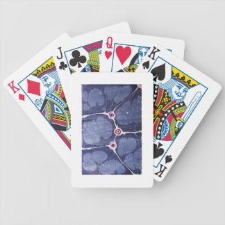 Handmade Marbled Pop Art Bicycle Playing Cards