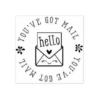 HANDMADE PACKAGING cute envelope you've got mail Rubber Stamp