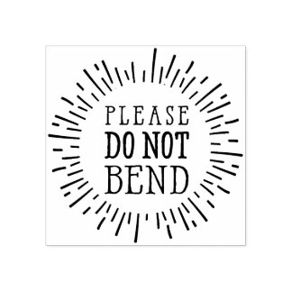 HANDMADE PACKAGING rustic please do not bend Rubber Stamp