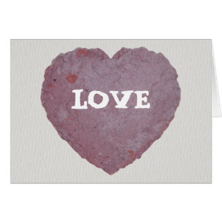 Handmade Paper Heart 010 Greeting Card