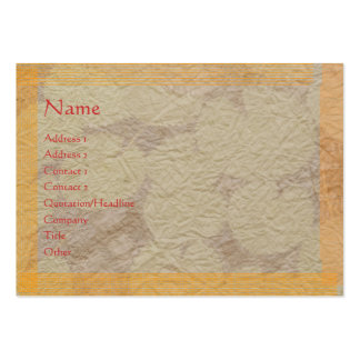 Handmade Paper LOOK only (choose your paper choice Pack Of Chubby Business Cards