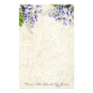 Handmade Paper Wisteria Flowers Floral Stationery