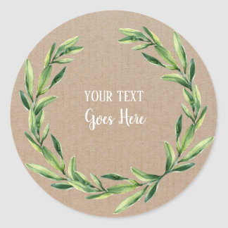 Handmade Product Vintage Floral Wreath Craft Classic Round Sticker