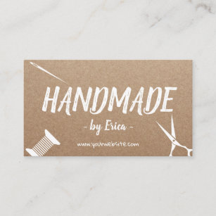 Handmade craft business cards zazzle au handmade sewing crafts rustic kraft business card colourmoves