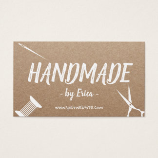 Handmade Sewing Crafts Rustic Kraft Business Card
