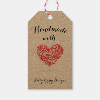 Handmade with Love Fibre Artist Gift Tags