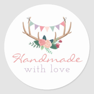 Handmade With Love Stickers | Zazzle.com.au