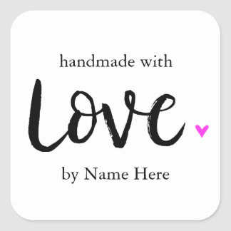 Handmade with Love, Hand Lettered Label