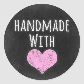 Handmade With Love Product Packaging Round Sticker