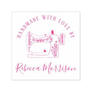 Handmade With Love | Sewing Machine & Custom Name Self-inking Stamp