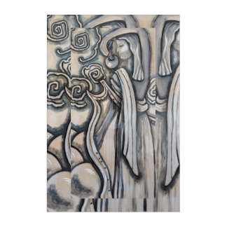 """Handmaiden of Zeus With Lyre""  painting Acrylic Print"
