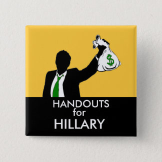Handouts for Hillary 15 Cm Square Badge
