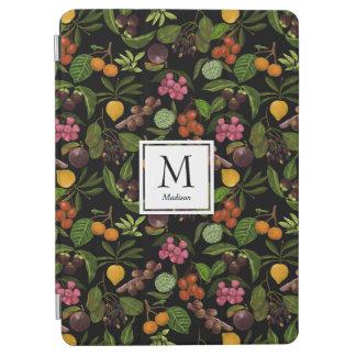 Handpainted Exotic Tropical Fruits Monogram iPad Air Cover