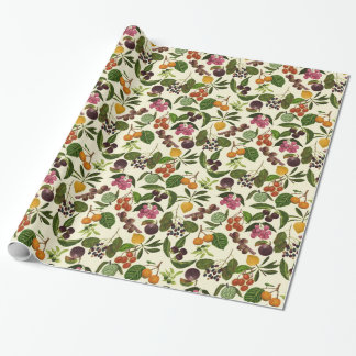 Handpainted Exotic Tropical Fruits Pattern