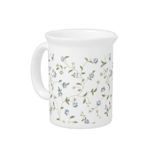 Handpainted Floral Pitcher