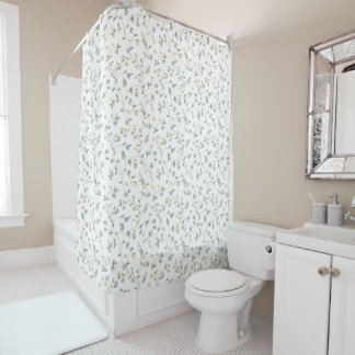 Handpainted Floral Shower Curtain