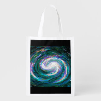 Handpainted Galaxy Reusable Grocery Bag