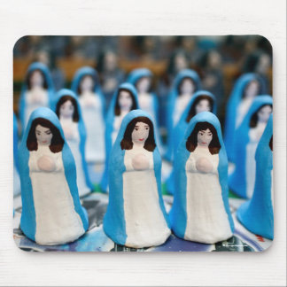 Handpainted Virgin Mary figurines Mouse Pad