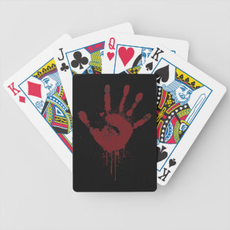 handprint bicycle playing cards