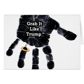 Handprint Design with Ring with Grab it like Trump Card