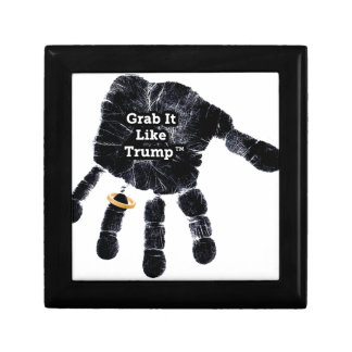 Handprint Design with Ring with Grab it like Trump Gift Box