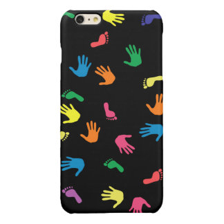 Handprint footprint multicolored
