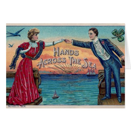 Hands Across the Sea Note Card