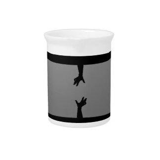 hands art design pattern pitcher