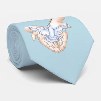 Hands Dove Tie