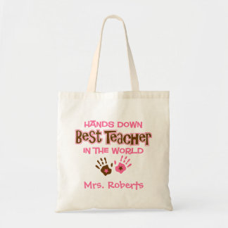 Hands Down Best Teacher Budget Tote Bag