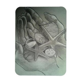 Hands Full Of Shells Magnet