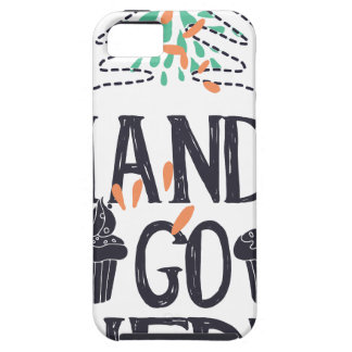 hands go here tough iPhone 5 case