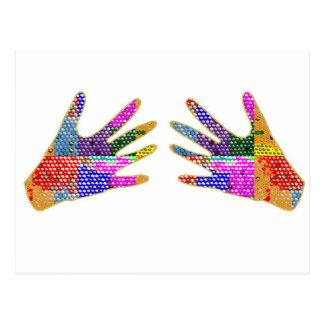 HANDS Henna Friendship HUG Postcard