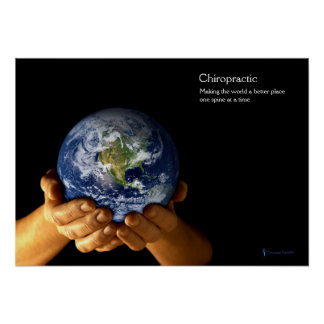 Hands Holding Earth Chiropractic Poster