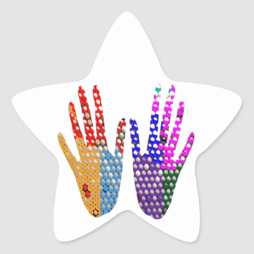 Hands in BLESSING Star Stickers