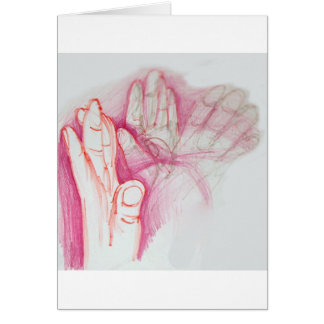 Hands in Motion Greeting Card