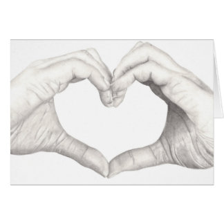 Hands in Shape of a Heart Greeting Card