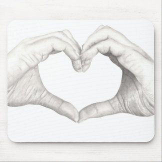 Hands in Shape of a Heart Mouse Pad