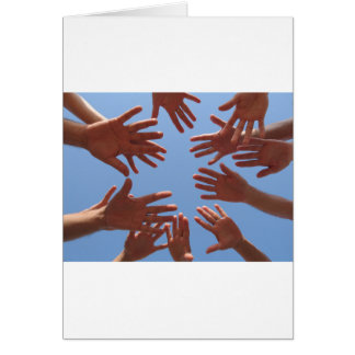 Hands In - Teamwork Card