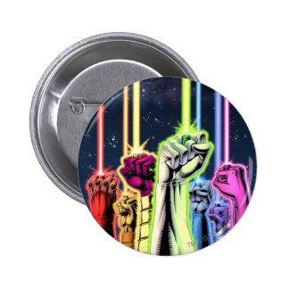Hands in the air with rings -Color 6 Cm Round Badge