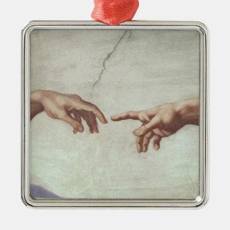 Hands of God and Adam Ornaments