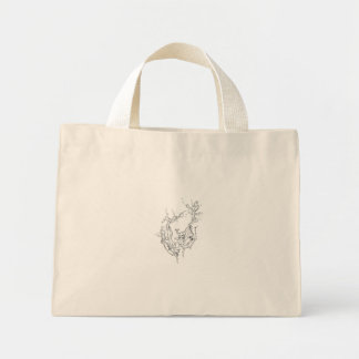 Hands of Nature, original art by Intrigma Mini Tote Bag